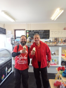 Always ready for Ice cream. With Simon Gillespie